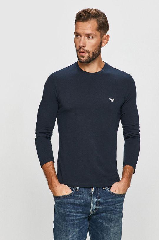 námořnická modř Emporio Armani - Tričko s dlouhým rukávem Pánský