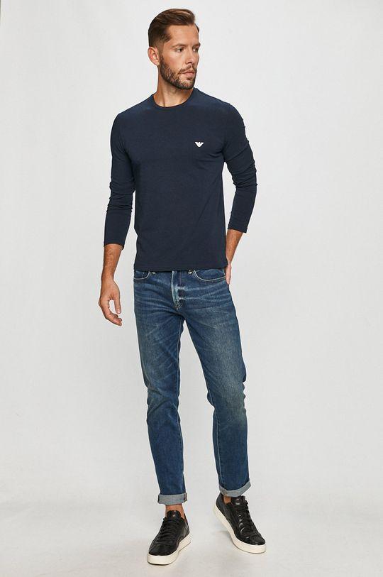 Emporio Armani - Tričko s dlouhým rukávem námořnická modř