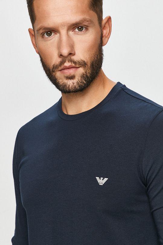 námořnická modř Emporio Armani - Tričko s dlouhým rukávem
