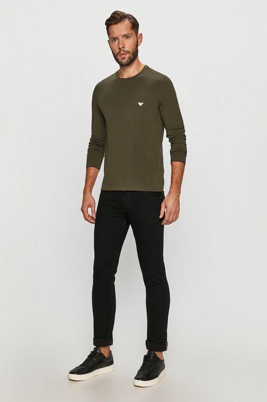 Emporio Armani - Tričko s dlouhým rukávem khaki
