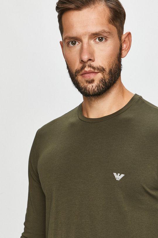 khaki Emporio Armani - Tričko s dlouhým rukávem
