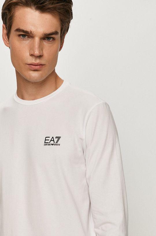 bílá EA7 Emporio Armani - Tričko s dlouhým rukávem