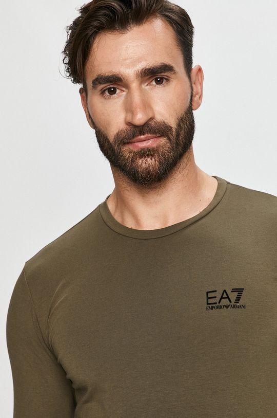 zelená EA7 Emporio Armani - Tričko s dlouhým rukávem