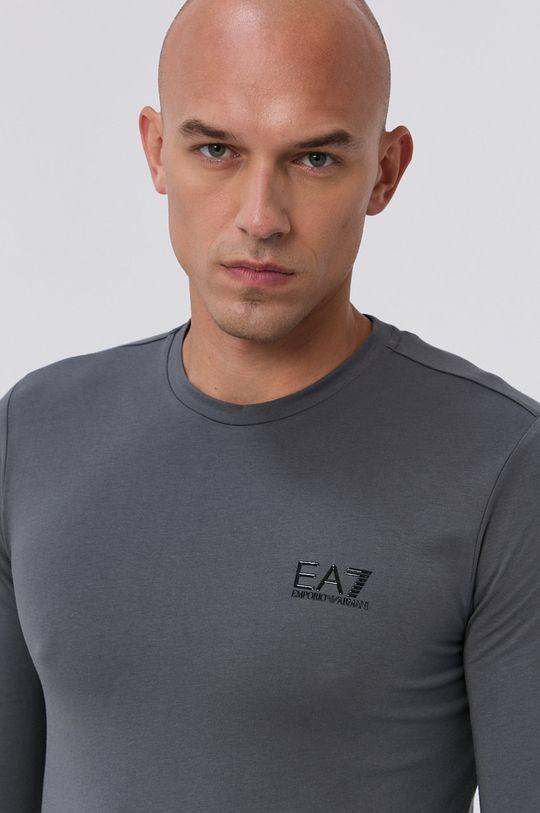 EA7 Emporio Armani - Tričko s dlouhým rukávem šedá