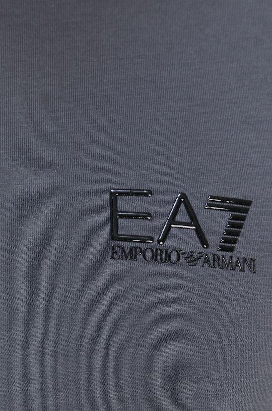 šedá EA7 Emporio Armani - Tričko s dlouhým rukávem