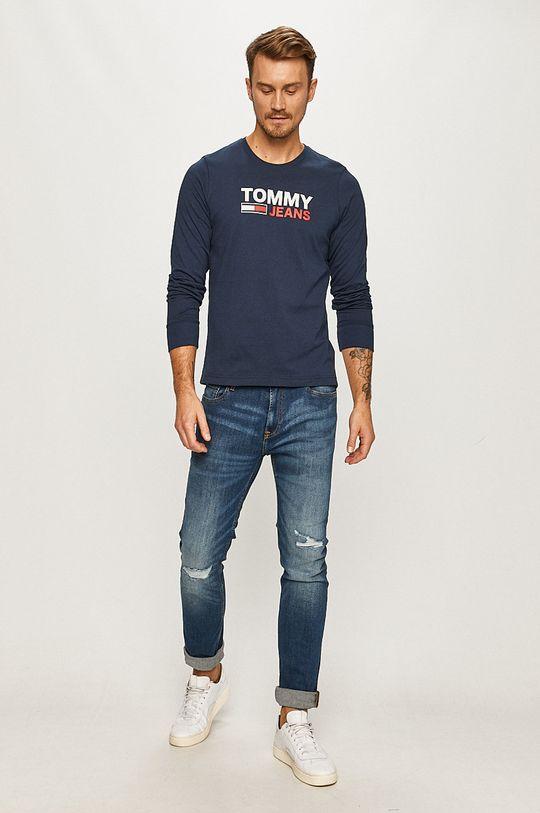 Tommy Jeans - Longsleeve bleumarin