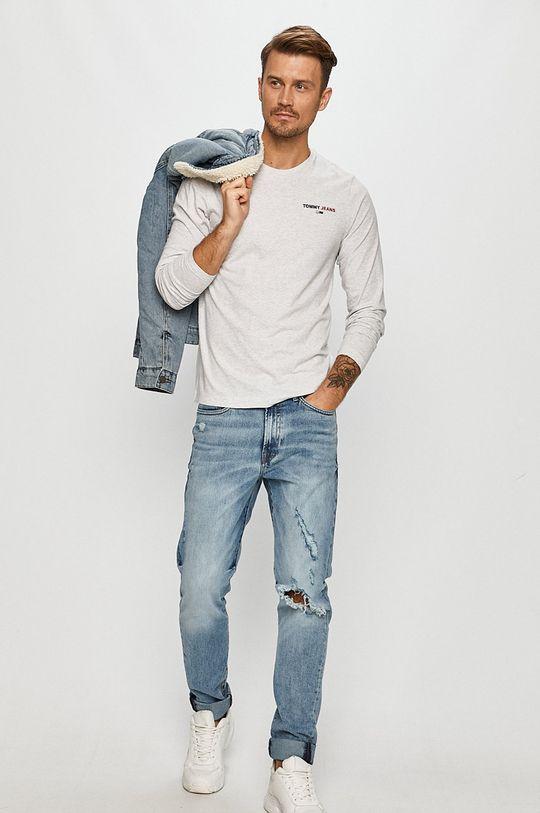 Tommy Jeans - Longsleeve gri deschis