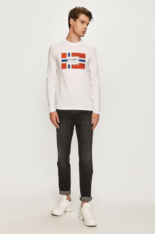 Napapijri - Tričko s dlhým rukávom biela