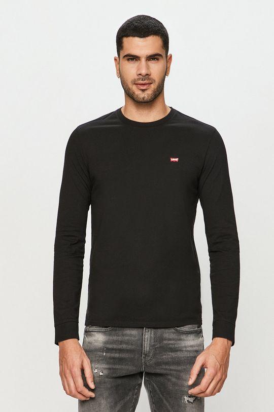 černá Levi's - Tričko s dlouhým rukávem Pánský