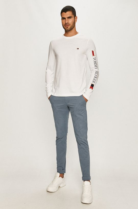 Tommy Hilfiger - Tričko s dlhým rukávom biela