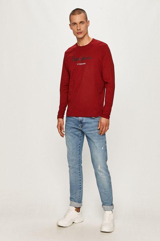 Pepe Jeans - Tričko s dlhým rukávom Eggo bledofialový
