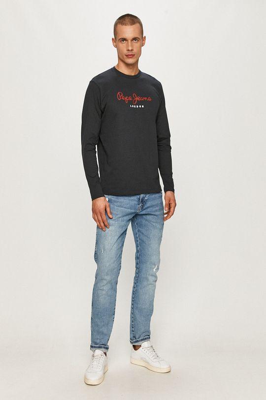 Pepe Jeans - Tričko s dlhým rukávom Eggo grafitová