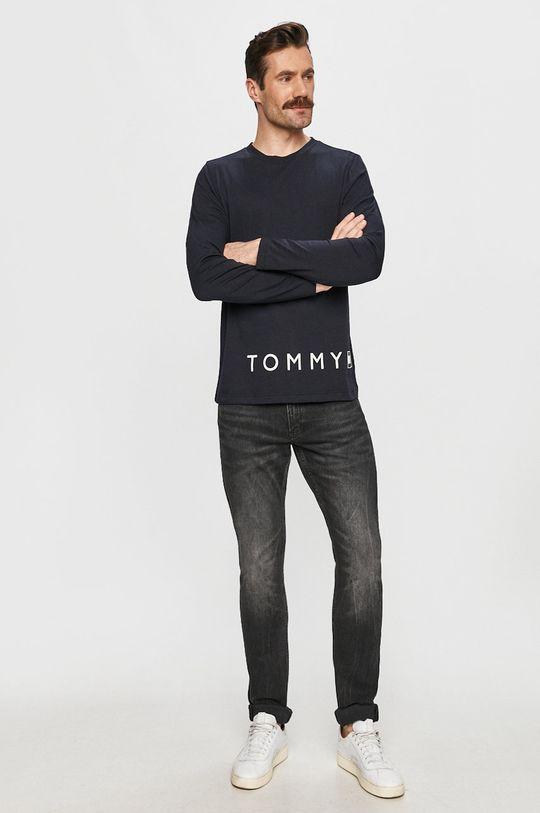 Tommy Hilfiger - Tričko s dlouhým rukávem námořnická modř