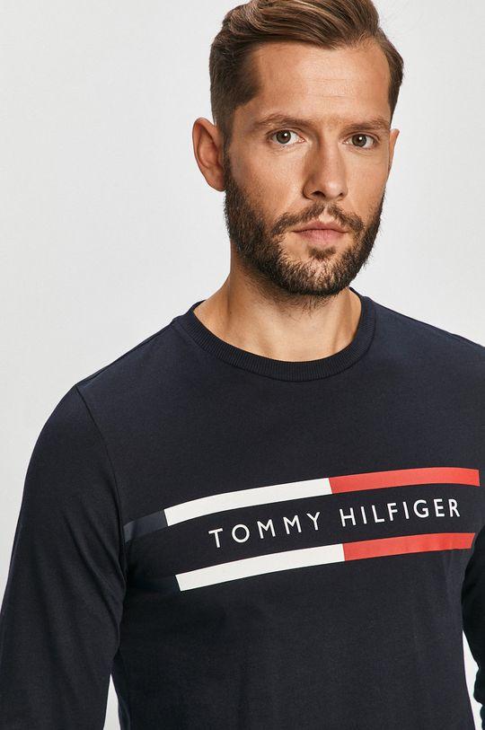 námořnická modř Tommy Hilfiger - Tričko s dlouhým rukávem