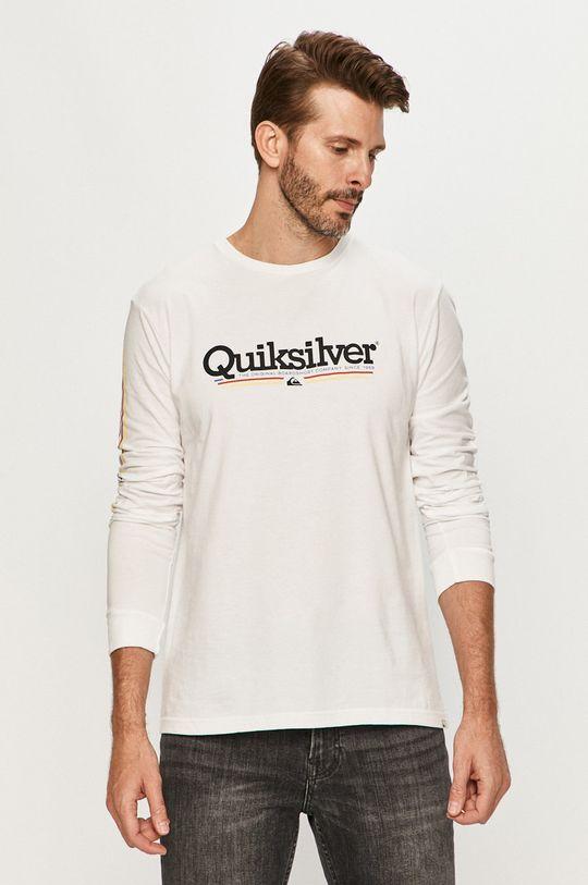 biela Quiksilver - Tričko s dlhým rúkavom Pánsky