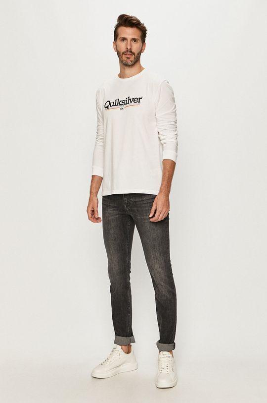Quiksilver - Tričko s dlhým rukávom biela