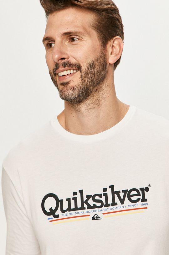 biela Quiksilver - Tričko s dlhým rukávom