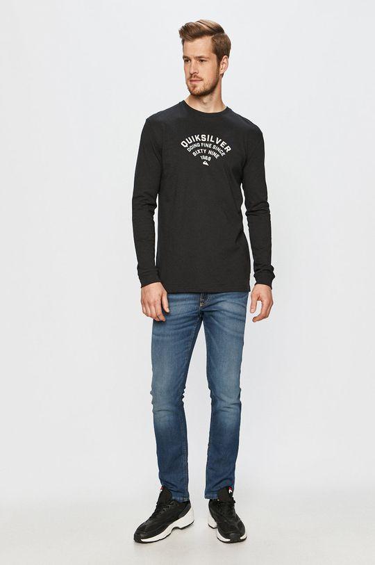 Quiksilver - Tričko s dlhým rukávom čierna