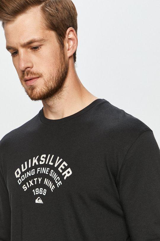 čierna Quiksilver - Tričko s dlhým rukávom