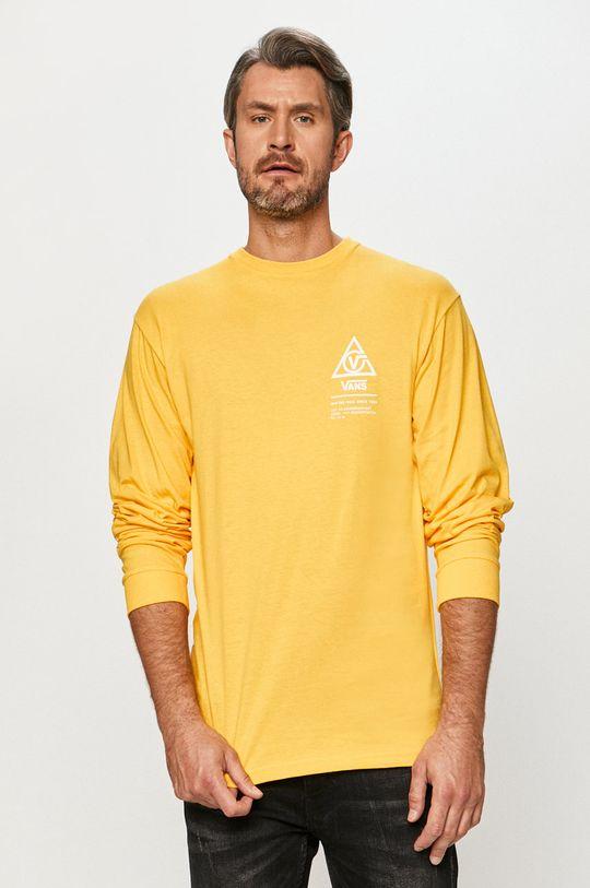 žlutá Vans - Tričko s dlouhým rukávem Pánský