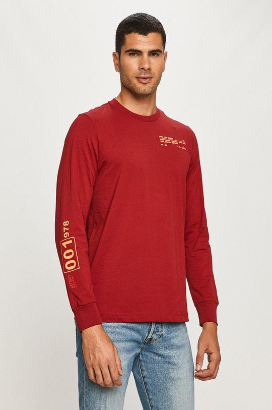 červená Diesel - Tričko s dlhým rúkavom Pánsky