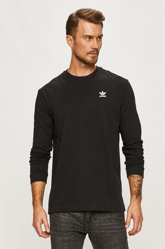 negru adidas Originals - Longsleeve De bărbați