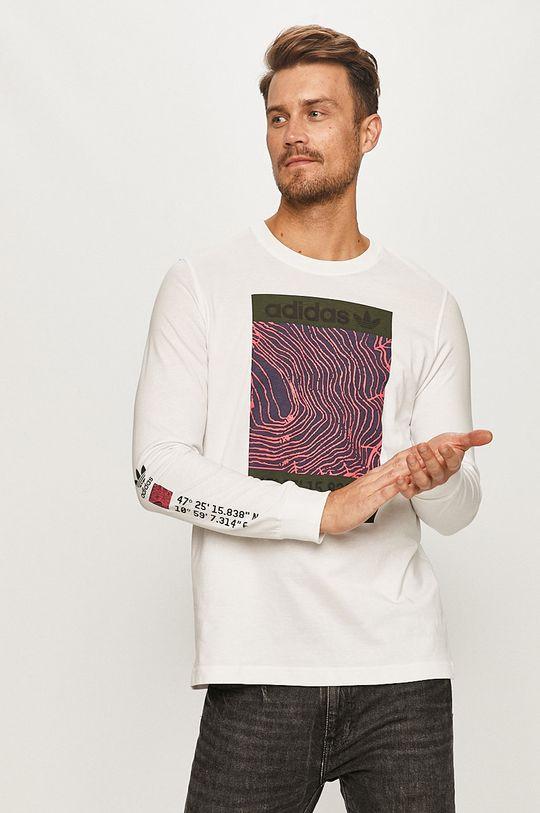 alb adidas Originals - Longsleeve De bărbați