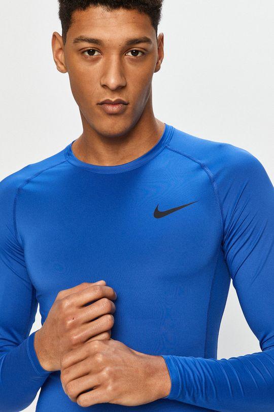 modrá Nike - Tričko s dlouhým rukávem Pánský