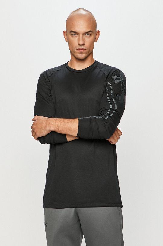 černá Under Armour - Tričko s dlouhým rukávem Pánský