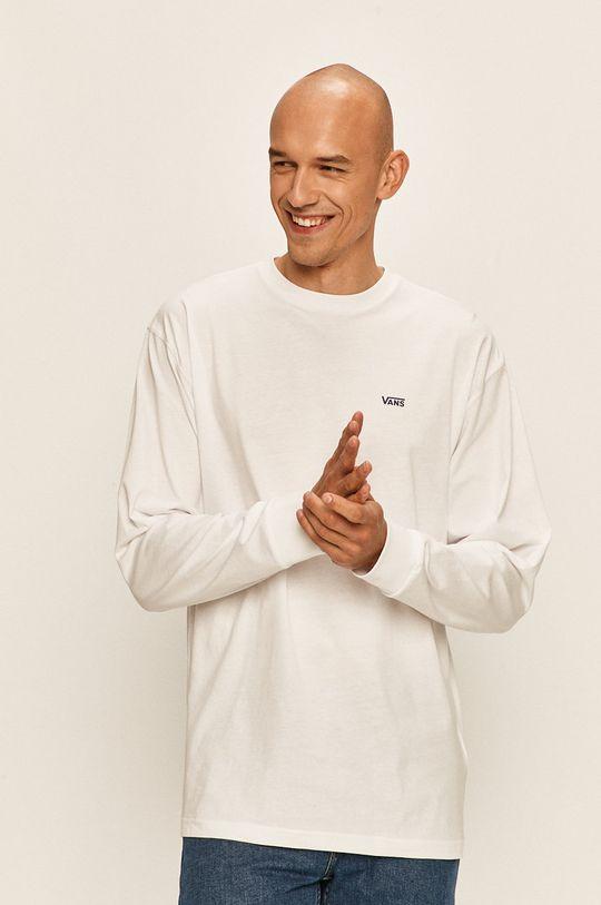 biela Vans - Tričko s dlhým rúkavom Pánsky