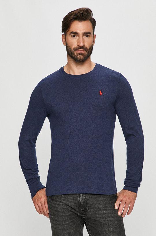 tmavomodrá Polo Ralph Lauren - Tričko s dlhým rúkavom Pánsky