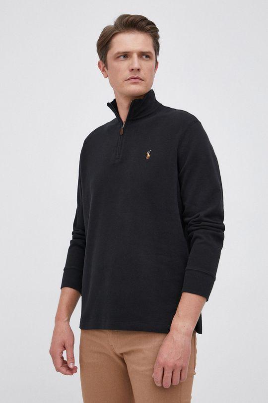 czarny Polo Ralph Lauren - Sweter bawełniany Męski