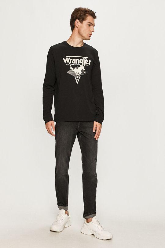 Wrangler - Tričko s dlhým rukávom čierna
