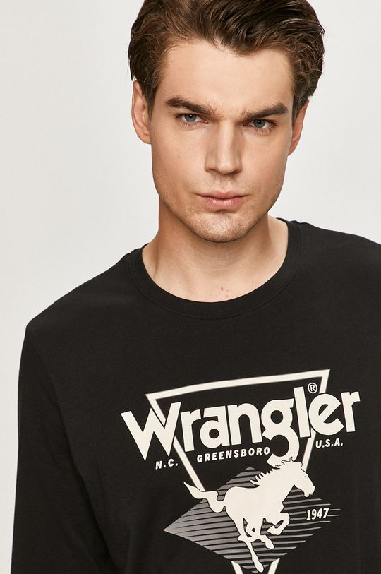 negru Wrangler - Longsleeve
