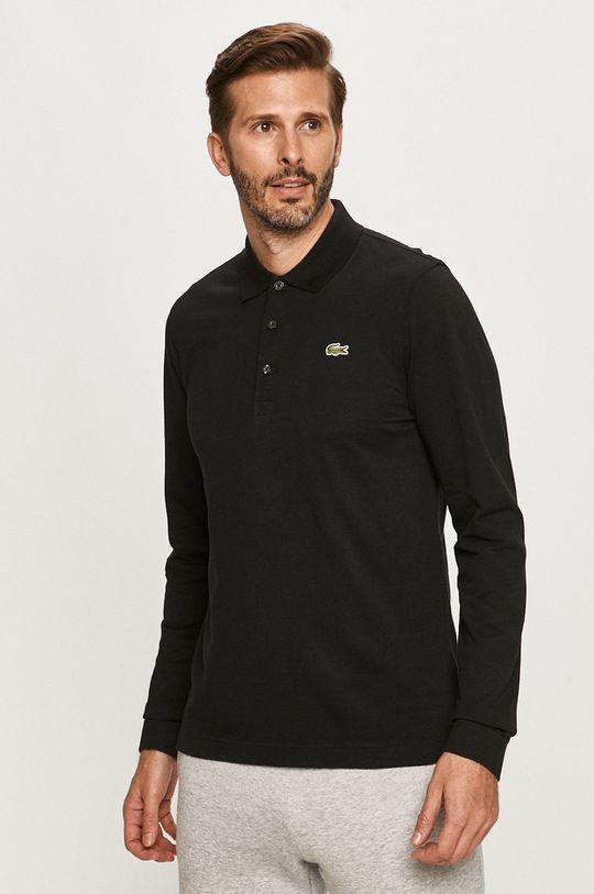 čierna Lacoste - Tričko s dlhým rúkavom Pánsky