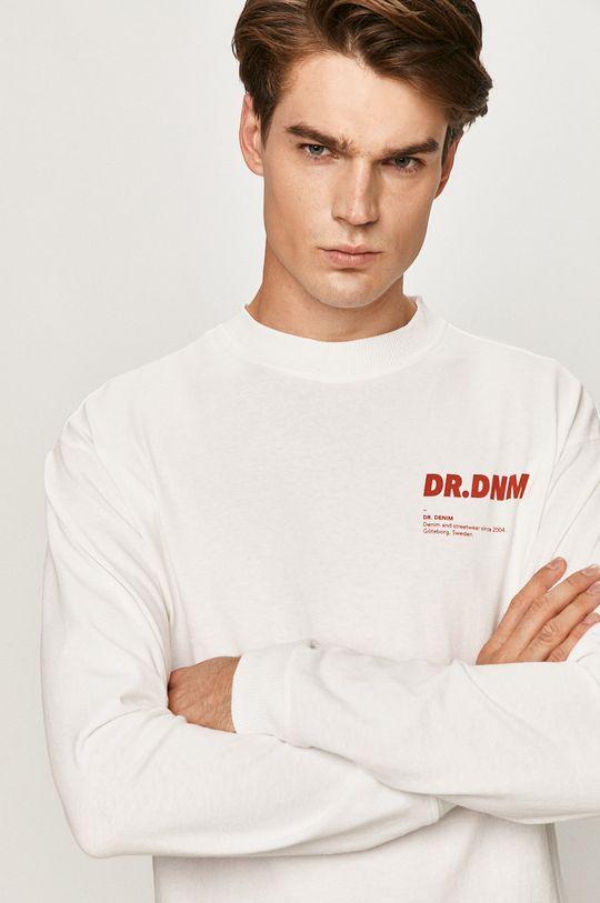 biela Dr. Denim - Tričko s dlhým rukávom Pánsky