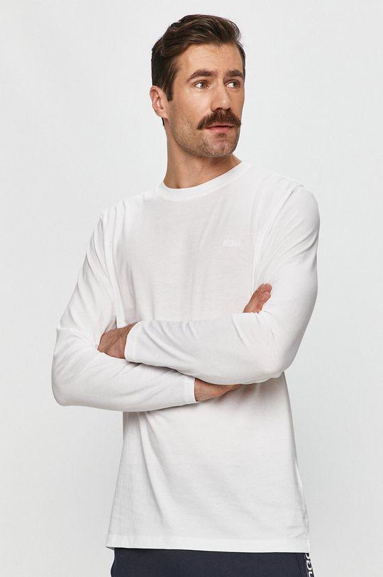 biela Hugo - Tričko s dlhým rukávom Pánsky