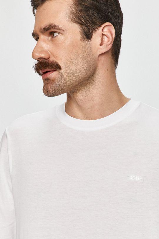 biela Hugo - Tričko s dlhým rukávom