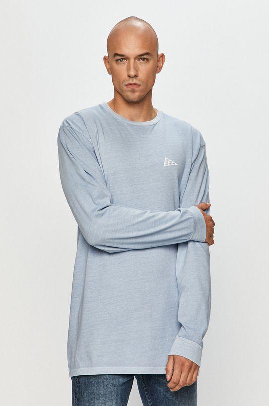 světle modrá Vans - Tričko s dlouhým rukávem Pánský