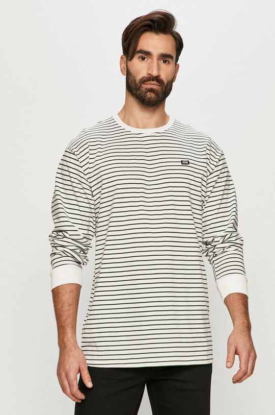 bílá Vans - Tričko s dlouhým rukávem Pánský