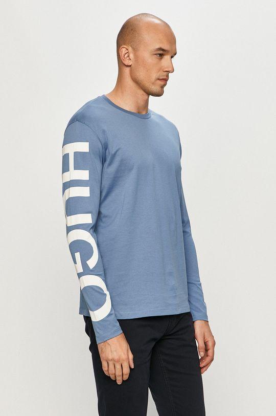 niebieski Hugo - Longsleeve Męski