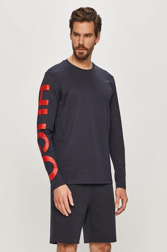 námořnická modř Hugo - Tričko s dlouhým rukávem Pánský
