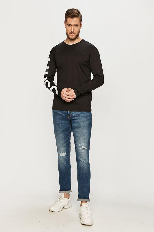 Hugo - Tričko s dlouhým rukávem černá