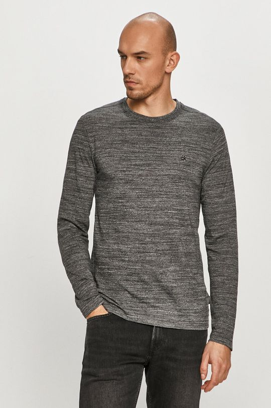 černá Calvin Klein - Tričko s dlouhým rukávem Pánský
