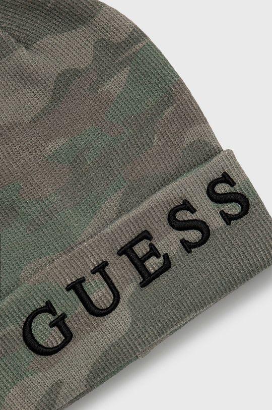 Guess Jeans - Čepice tlumená zelená
