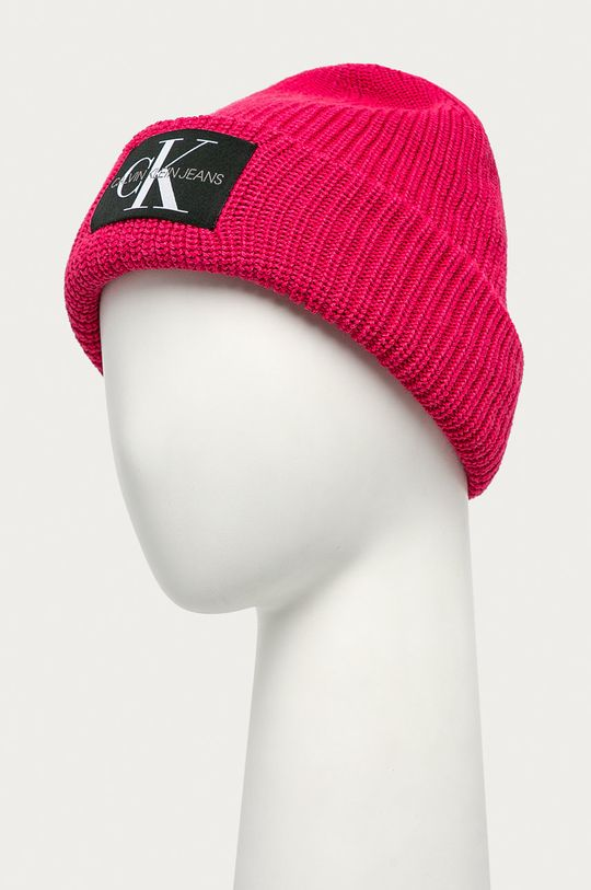 Calvin Klein Jeans - Čepice ostrá růžová