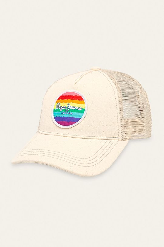 smetanová Pepe Jeans - Čepice Virginia Pride Dámský