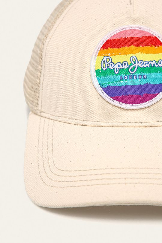 Pepe Jeans - Čepice Virginia Pride smetanová