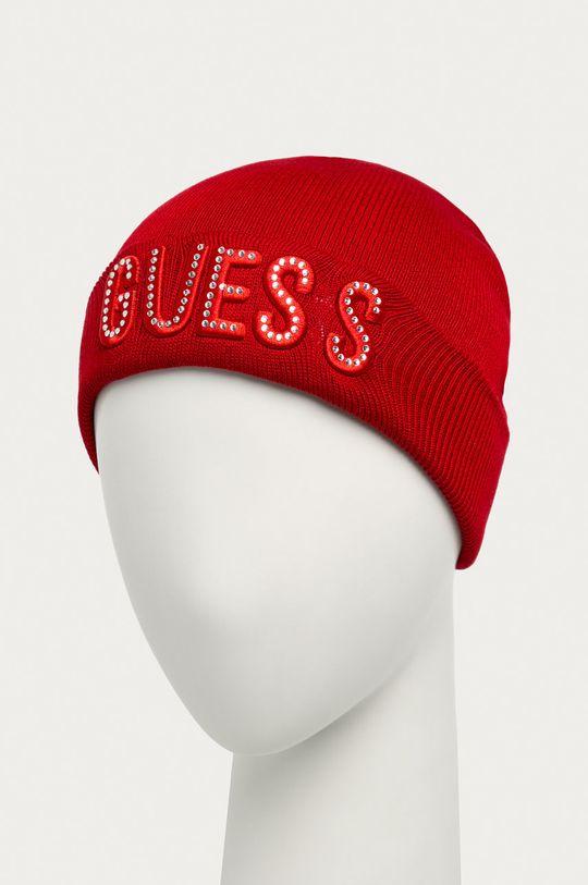 Guess Jeans - Czapka dziecięca czerwony