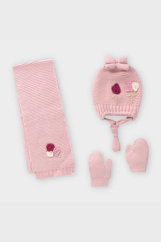 ružová Mayoral - Čiapka, šál a rukavice Dievčenský
